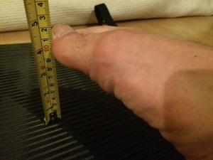 Nilkan venyvyyden mittaus: mittaustapa